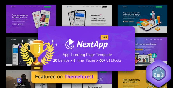 NextApp - App Landing WordPress Theme - Software Technology