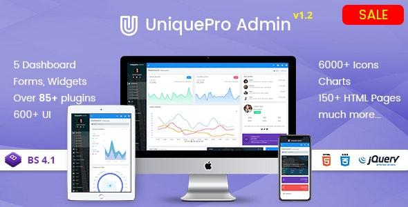UniquePro - Bootstrap 4 Responsive Admin Templates & Web Apps Dashboards - Admin Templates Site Templates