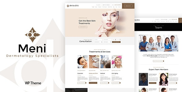 Meni - Dermatology & Medical WordPress Theme - Health & Beauty Retail