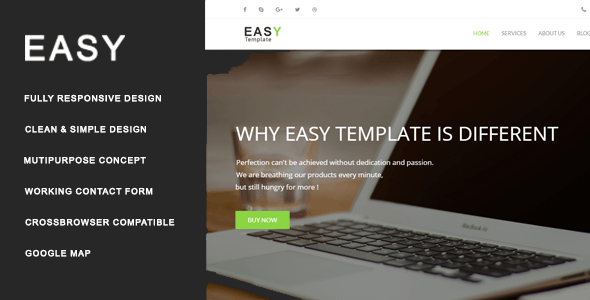 Easy - Multiuse HTML Template - Creative Site Templates