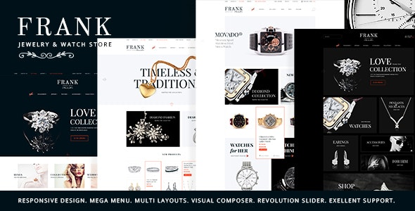 Jewelry & Watches Online Store WordPress Theme - WooCommerce eCommerce