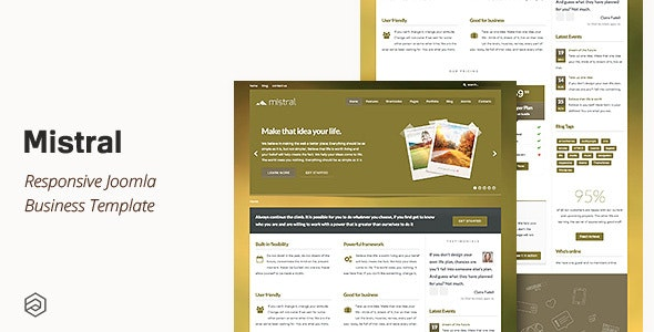 Mistral - Responsive Business Joomla Template - Corporate Joomla