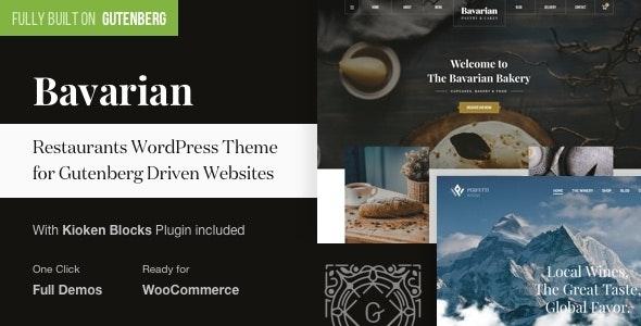 Bavarian - WordPress Block Editor Theme for Restaurants - Restaurants & Cafes Entertainment