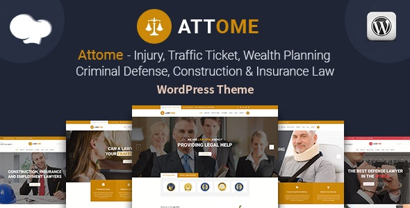 Attome | Lawyer & Attorney Responsive WordPress Theme - Business Corporate