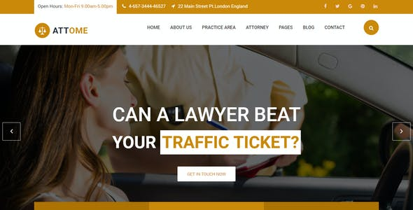 Attome   Lawyer & Attorney Responsive WordPress Theme