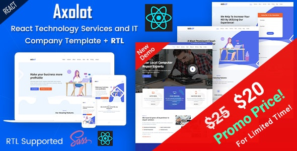 Axolot - React IT Solutions & Digital Services Company Template - Business Corporate