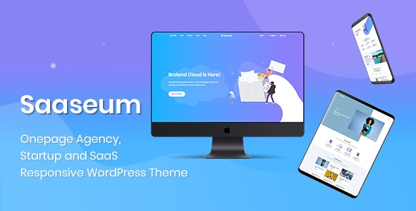 Saaseum - Landing Page Design - Technology Photoshop