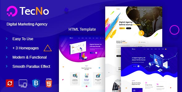 Digital Agency Website Templates from ThemeForest