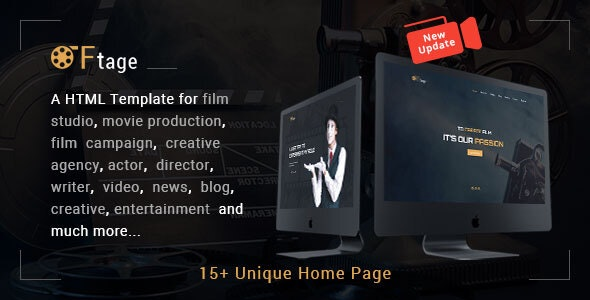 Film Studio Movie Production HTML Template - Ftage - Film & TV Entertainment