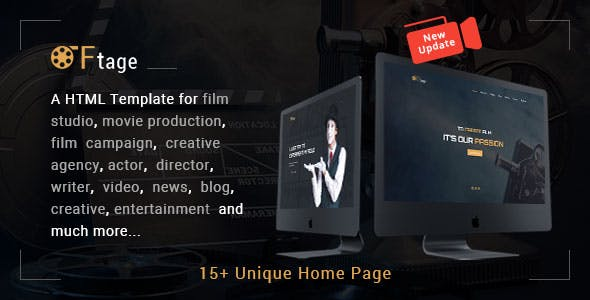 Cinema HTML Website Templates from ThemeForest