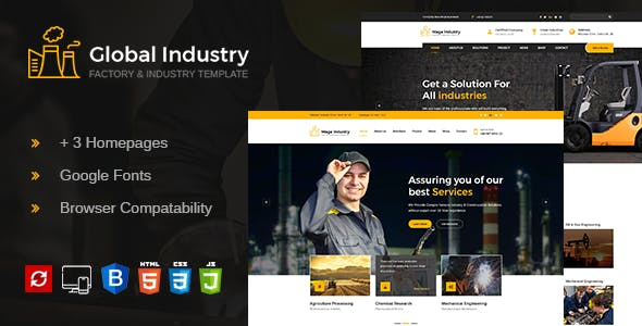 Global Industry- Factory & Industry HTML Template