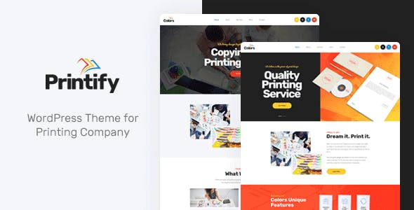 Printing Company Website Templates from ThemeForest