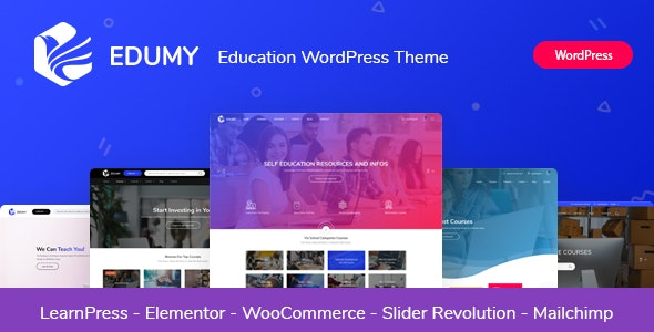 Edumy - LMS Online Education Course WordPress Theme - Education WordPress