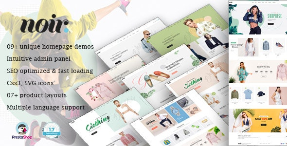 Leo Noir - Innovative Prestashop Theme Fashion Store - Fashion PrestaShop