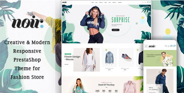 Leo Noir - Innovative Prestashop Theme Fashion Store