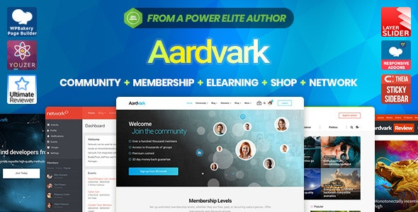 Aardvark - Community, Membership, BuddyPress Theme - BuddyPress WordPress