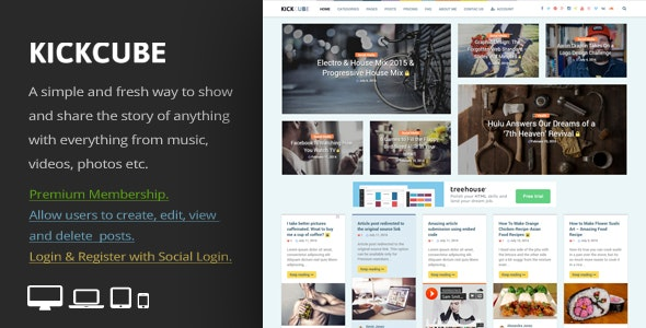 KICKCUBE - Membership & User Content Sharing Theme by An-Themes