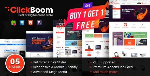 ClickBoom - Responsive Multipurpose Prestashop 1.6 and 1.7 Theme - PrestaShop eCommerce