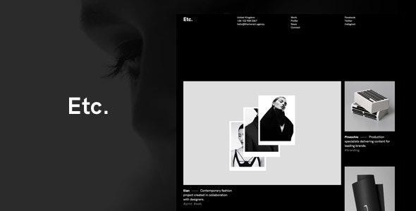 Etc. - Portfolio Creative WordPress Theme - Portfolio Creative