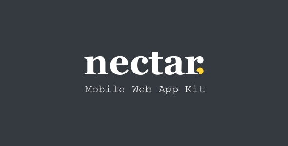 Nectar - Mobile Web App Kit - Mobile Site Templates