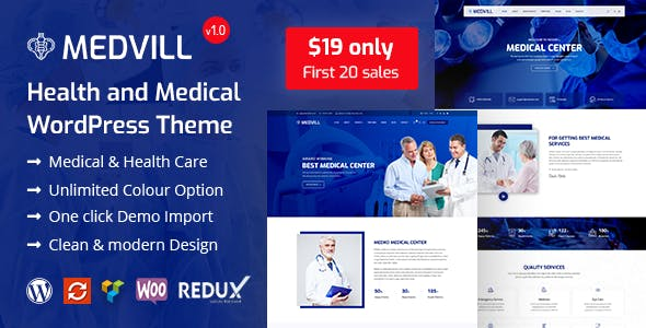 Medvill - Health & Medical WordPress Theme nulled theme download