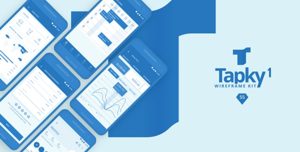 Tapky 1 | Wireframe UI Kit - 140 Sketch Templates for Your Next Android App - Sketch UI Templates