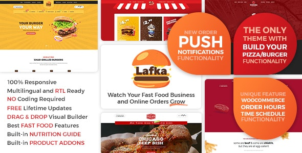 Lafka - WooCommerce Theme for Burger Pizza Fast Food Delivery & Restaurant - Food Retail