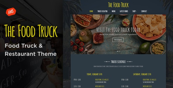 The Food Truck - WordPress Theme - Restaurants & Cafes Entertainment