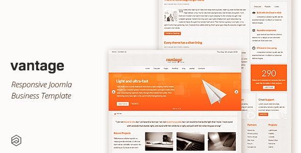 Vantage - Responsive Business Joomla Template - Business Corporate