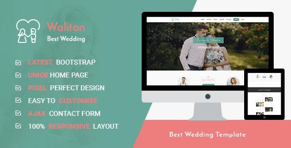 Waliton - Responsive HTML5 Wedding Template - Wedding Site Templates