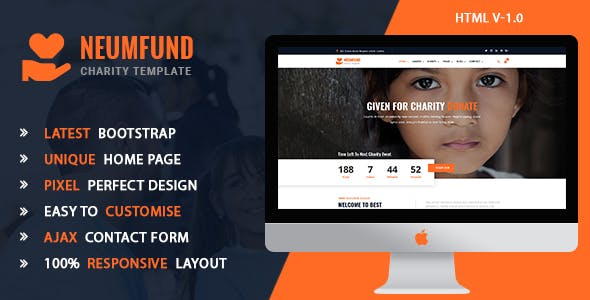 Neumfund - Charity and Donation HTML5 Template nulled theme download