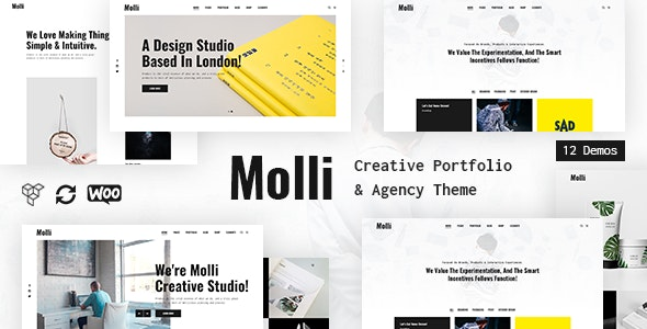 Molli - Creative Portfolio & Agency Theme by Farost