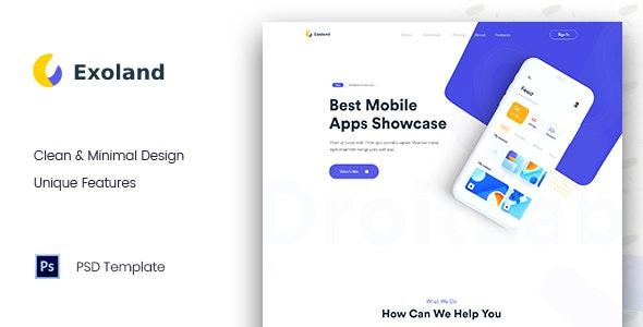 Exoland - App Landing Page - PSD Templates