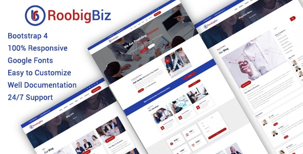 RoobigBiz - Corporate Business HTML5 Template - Business Corporate
