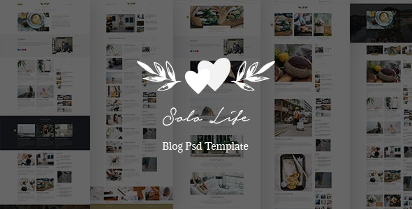 Solo Life - Blog PSD Template - Miscellaneous Photoshop