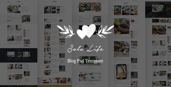 Solo Life - Blog PSD Template