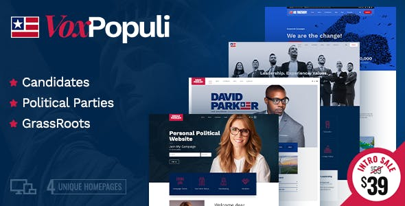 Vox Populi - Political Party, Candidate & Grassroots nulled theme download