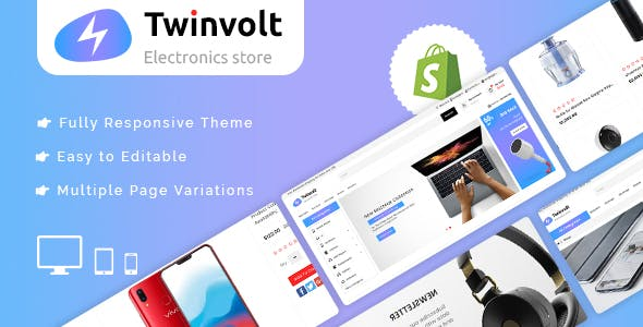 Twinvolt - Shopify MultiPurpose Responsive Theme nulled theme download