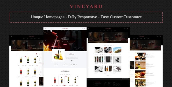 Vine Yard HTML Template - Restaurants & Cafes Entertainment