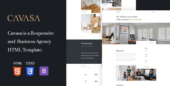 CAVASA - Responsive Interior and Architecture HTML Template - Portfolio Creative