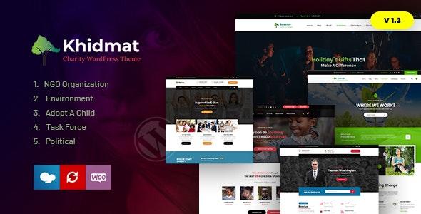 Khidmat - Multipurpose Nonprofit WordPress Theme - Nonprofit WordPress