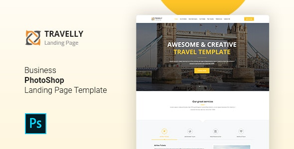 Travelly - Tourism & Agency PSD Template - Travel Retail