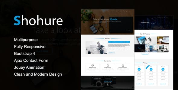 Shohure - Multipurpose HTML5 Template