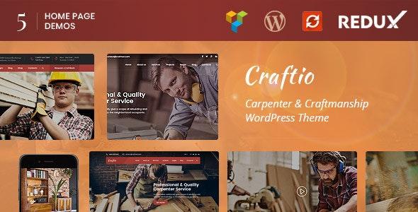 Craftio - Carpenter WordPress Theme - Business Corporate