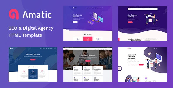 Amatic - SEO /Digital Agency HTML5 Template - Creative Site Templates
