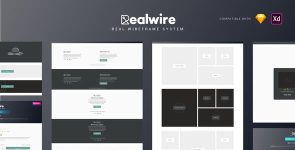 Realwire - Ultimate Wireframe Library Collection