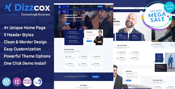 Dizzcox - Consulting Business WordPress Theme - Corporate WordPress