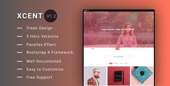 XCENT - Personal Portfolio Template - Portfolio Creative