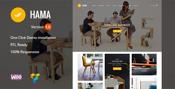Hama - Store Furniture Home WooCommerce WordPress Theme - WooCommerce eCommerce
