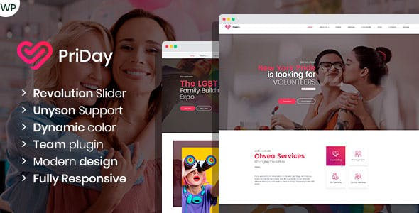 PriDay – LGBT Community WordPress Theme nulled theme download